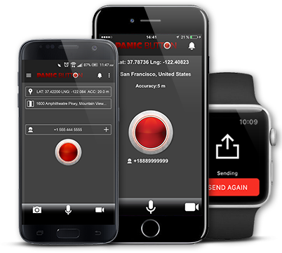 Red Panic Button app – safety app for emergency – SOS call app for iOS and  Android