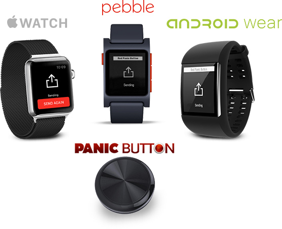Wearable panic button
